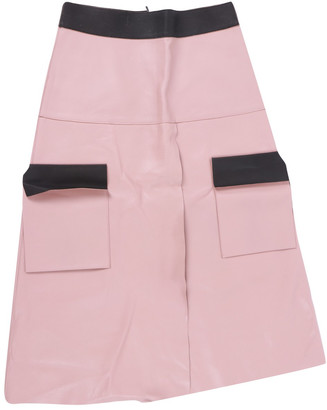 Dion Lee Pink Leather Skirt for Women