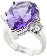 One Kings Lane Vintage Amethyst & Diamond Cocktail Ring