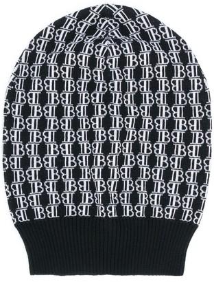 Balmain Logo-Jacquard Beanie Hat