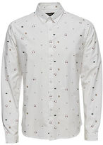 Only And Sons Long Sleeve Music Print Shirt