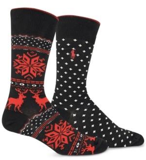 Polo Ralph Lauren Men's 2-Pack Holiday Fair Isle Dress Socks