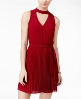 BCX Juniors' Pleated A-Line Dress