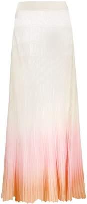 Jacquemus shaded ribbed midi skirt