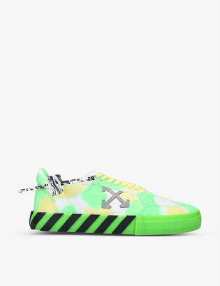 Off-White Vulcanized tie-dye canvas trainers