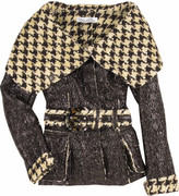 Houndstooth tweed jacket.