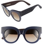 Bottega Veneta Women's 48Mm Sunglasses - Blue/ Blue/ Brown