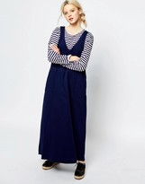 Monki Denim Sleeveless V Neck Dress