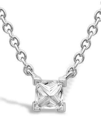 Pragnell 18kt white gold Rockchic diamond solitaire necklace