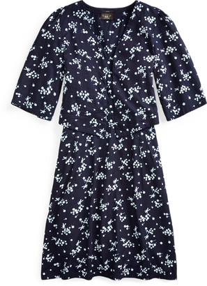 Ralph Lauren Print Twill Bolero Dress