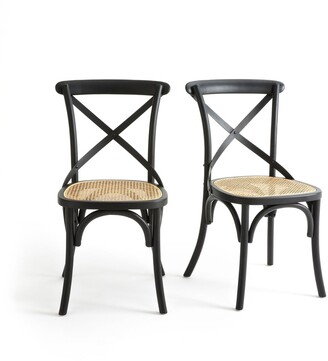 La Redoute Interieurs Cedak Set of 2 Wood and Cane Chairs