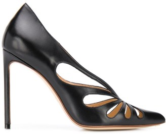 Francesco Russo Cut-Detail Pumps