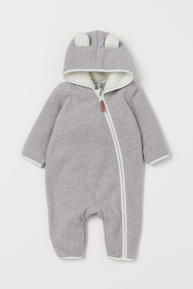 H&M Hooded fleece all-in-one suit
