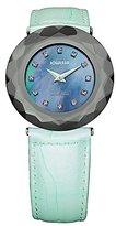 Jowissa Women's J1.162.L Safira 99 Rhinestone Mother-of-Pearl Light Blue Leather Watch