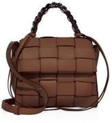 Elena Ghisellini Angel Medium Woven Leather Top-Handle Satchel