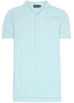 Polo Ralph Lauren Julie embroidered cotton piqué polo shirt