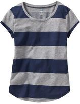 Old Navy Girls Rounded-Hem Tees