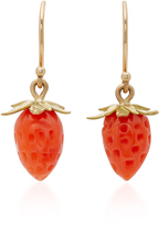 Annette Ferdinandsen 18K Gold Red Coral Strawberry Earrings
