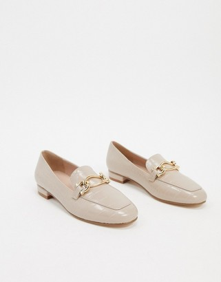 Carvela square toe chain loafers