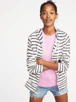 Old Navy Slub-Knit Textured-Stripe Zip Hoodie for Women