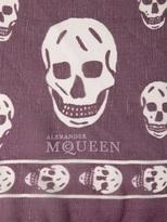 Alexander McQueen Skull Printed Silk Chiffon Scarf