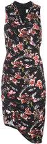Nicole Miller asymmetric floral wrap dress - women - Spandex/Elastane/Rayon - 4