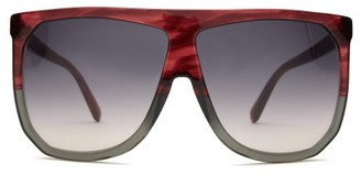 Loewe Filipa Flat-top Acetate Sunglasses - Red