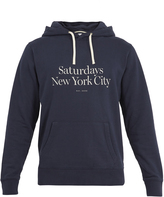 Saturdays NYC Ditch Miller logo-print hooded cotton sweatshirt