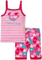 Hatley Crazy Hearts Tank PJ Set (Toddler/Kid) - Pink - 5