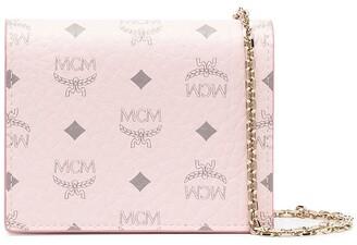 MCM Visetos chain strap wallet