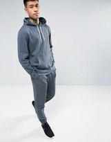 Asos Tracksuit Set Skinny Jogger/Hoodie In Washed Blue SAVE