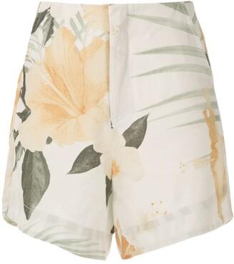 OSKLEN Hibisco print shorts