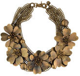 Peter Som Chain Maille Flower Statement Necklace