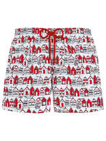 Vilebrequin Moorea Printed Swim Shorts - Red - Size S