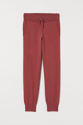 H&M Cashmere-blend Joggers - Red