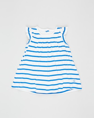 Petit Bateau Striped Bodysuit Dress - Babies