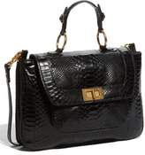 'Covet' Snake Embossed Satchel