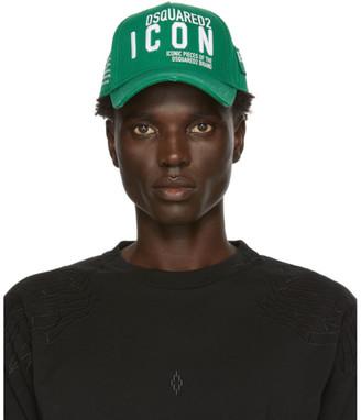 DSQUARED2 Green Gabardine Cap
