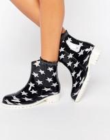 Glamorous Star Print Wellington Boots