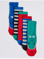 Marks and Spencer 5 Pairs of FreshfeetTM Novelty Socks (1-14 Years)