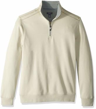 Van Heusen Men's Flex Long Sleeve 1/4 Zip Soft Sweater Fleece