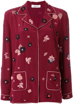 Valentino Floral Patch Pyjama Top