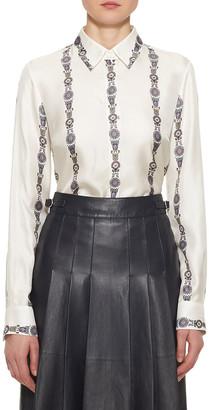 Gabriela Hearst Henri Floral Silk Button-Down Blouse