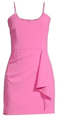 Parker Black Myrtle Draped Mini Bodycon Dress