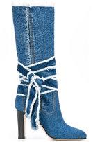 Philosophy Di Lorenzo Serafini - denim boots - women - Cotton/Leather - 36