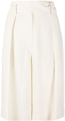 Brunello Cucinelli Draped-Detail Knee-Length Shorts