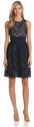 Eliza J Women's Lace Dress With Pleated Skirt