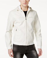 INC International Concepts Men's Faux Leather Hooded Jacket, Only at Macy's