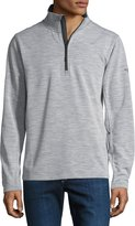 The North Face FlashDry Wool-Blend Quarter-Zip Pullover, Light Gray Heather