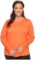Nike Miler Long-Sleeve Running Top (Size 1X-3X)