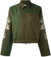 MHI embroidered sleeve jacket - women - Cotton - 10